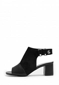 Босоножки, Topshop, цвет: черный. Артикул: TO029AWSQI20. Женская обувь / Босоножки