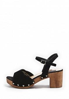 Босоножки, Topshop, цвет: черный. Артикул: TO029AWTJR60. Женская обувь / Босоножки
