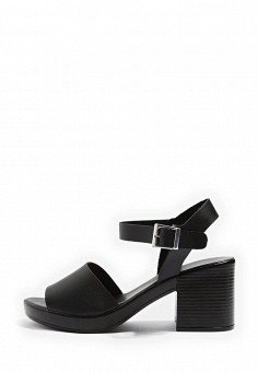 Босоножки, Topshop, цвет: черный. Артикул: TO029AWTJR68. Женская обувь / Босоножки