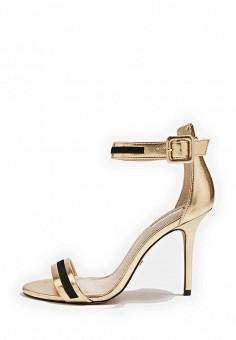Босоножки, Topshop, цвет: золотой. Артикул: TO029AWTQX27. Женская обувь / Босоножки