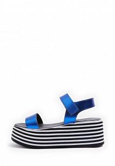 Босоножки, Topshop, цвет: синий. Артикул: TO029AWTQX30. Женская обувь / Босоножки