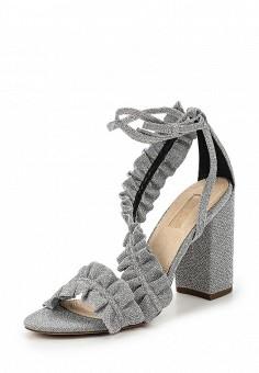 Босоножки, Topshop, цвет: серебряный. Артикул: TO029AWUBU99. Женская обувь / Босоножки