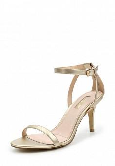 Босоножки, Topshop, цвет: золотой. Артикул: TO029AWUQR71. Женская обувь / Босоножки