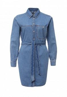 Платье джинсовое, Topshop, цвет: синий. Артикул: TO029EWIGR26. Женская одежда / Платья и сарафаны / Джинсовые платья