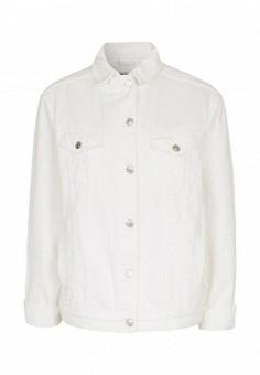 Куртка джинсовая, Topshop, цвет: белый. Артикул: TO029EWSCO90. Женская одежда / Тренды сезона / Летний деним / Джинсовые куртки