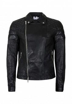 Куртка кожаная, Topman, цвет: черный. Артикул: TO030EMNNZ32. Мужская одежда / Верхняя одежда / Кожаные куртки