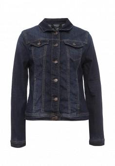 Куртка джинсовая, Tom Tailor, цвет: синий. Артикул: TO172EWQAS48. Женская одежда / Тренды сезона / Летний деним / Джинсовые куртки