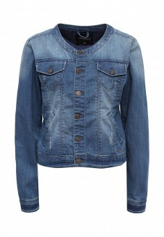 Куртка джинсовая, Top Secret, цвет: синий. Артикул: TO795EWRWH53. Женская одежда / Тренды сезона / Летний деним / Джинсовые куртки