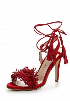 Босоножки, Trussardi Jeans, цвет: красный. Артикул: TR016AWOOA84. Премиум / Обувь / Босоножки