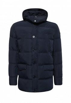 Пуховик, Trussardi Jeans, цвет: синий. Артикул: TR016EMUWE32. Мужская одежда / Верхняя одежда / Пуховики и зимние куртки