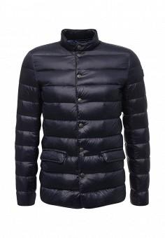 Пуховик, Trussardi Jeans, цвет: черный. Артикул: TR016EMUWE34. Мужская одежда / Верхняя одежда / Пуховики и зимние куртки