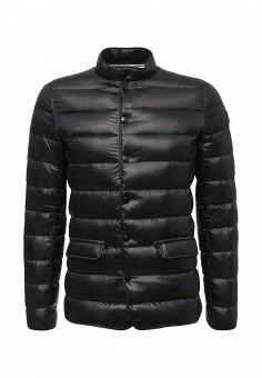 Пуховик, Trussardi Jeans, цвет: черный. Артикул: TR016EMUWE35. Мужская одежда / Верхняя одежда / Пуховики и зимние куртки