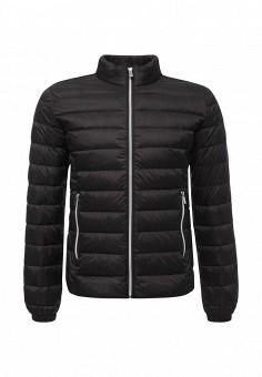 Пуховик, Trussardi Jeans, цвет: черный. Артикул: TR016EMUWE43. Мужская одежда / Верхняя одежда / Пуховики и зимние куртки