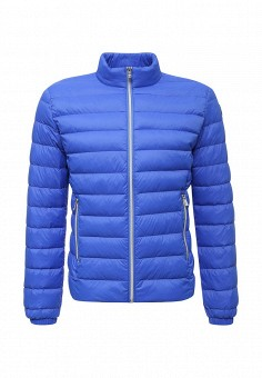 Пуховик, Trussardi Jeans, цвет: синий. Артикул: TR016EMUWE45. Мужская одежда / Верхняя одежда / Пуховики и зимние куртки