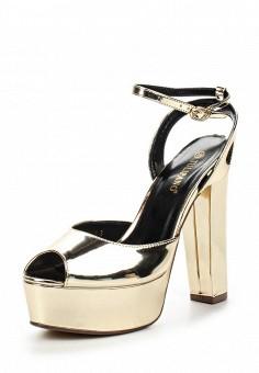 Босоножки, Tulipano, цвет: золотой. Артикул: TU005AWSSI26. Женская обувь / Босоножки