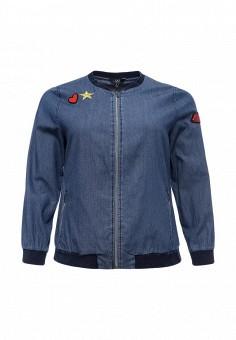 Куртка джинсовая, Ulla Popken, цвет: синий. Артикул: UL002EWPSR05. Женская одежда / Верхняя одежда / Джинсовые куртки