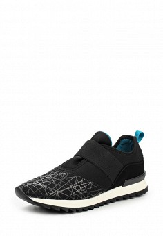 Кроссовки, United Colors of Benetton, цвет: черный. Артикул: UN012AWKSY35. Женская обувь / Кроссовки и кеды / Кроссовки