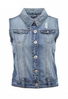 Жилет джинсовый, Urban Bliss, цвет: голубой. Артикул: UR007EWSQO35. Женская одежда / Верхняя одежда / Жилеты