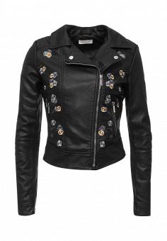 Куртка кожаная, Urban Bliss, цвет: черный. Артикул: UR007EWSQO56. Женская одежда / Верхняя одежда / Косухи