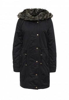 Парка, Vero Moda, цвет: черный. Артикул: VE389EWKLI40. Женская одежда / Верхняя одежда / Парки