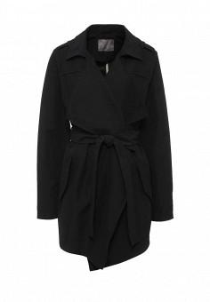 Плащ, Vero Moda, цвет: черный. Артикул: VE389EWOHB31. Женская одежда / Верхняя одежда / Плащи и тренчкоты