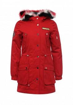 Парка, V&Florence, цвет: красный. Артикул: VF001EWDO015. Женская одежда / Верхняя одежда / Парки