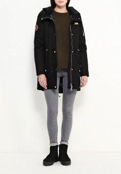 Парка, V&Florence, цвет: черный. Артикул: VF001EWEL227. Женская одежда / Верхняя одежда / Парки