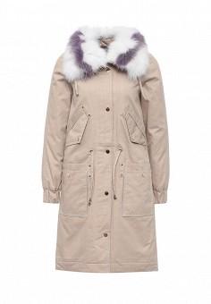 Парка, V&Florence, цвет: розовый. Артикул: VF001EWEL229. Женская одежда / Верхняя одежда / Парки