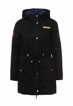 Парка, V&Florence, цвет: черный. Артикул: VF001EWLUX49. Женская одежда / Верхняя одежда / Парки