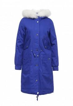 Парка, V&Florence, цвет: синий. Артикул: VF001EWLUX55. Женская одежда / Верхняя одежда / Парки