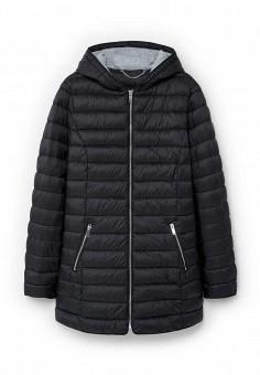 Куртка утепленная, Violeta by Mango, цвет: черный. Артикул: VI005EWLKH09. Женская одежда / Верхняя одежда / Пуховики и зимние куртки
