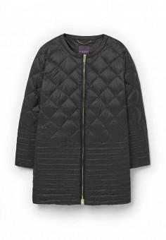Пуховик, Violeta by Mango, цвет: черный. Артикул: VI005EWMJT86. Женская одежда / Верхняя одежда / Пуховики и зимние куртки