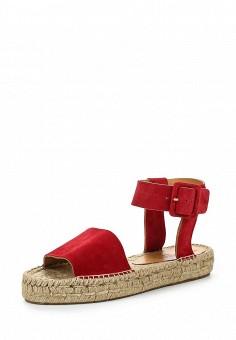 Эспадрильи, Weekend Max Mara, цвет: красный. Артикул: WE017AWORC07. Премиум / Обувь / Сандалии
