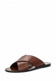 Шлепанцы, Weekend Max Mara, цвет: коричневый. Артикул: WE017AWORC14. Женская обувь / Шлепанцы и акваобувь