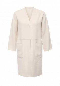 Пальто, Weekend Max Mara, цвет: бежевый. Артикул: WE017EWORB49. Премиум / Одежда / Верхняя одежда / Пальто
