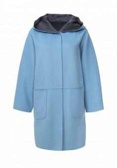 Пальто, Weekend Max Mara, цвет: голубой, синий. Артикул: WE017EWORB57. Премиум / Одежда / Верхняя одежда / Пальто
