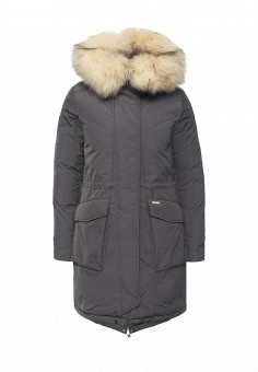 Пуховик, Woolrich, цвет: серый. Артикул: WO256EWKWT35. Женская одежда / Верхняя одежда