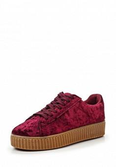 Кеды, WS Shoes, цвет: бордовый. Артикул: WS002AWRSR05. Женская обувь / Кроссовки и кеды