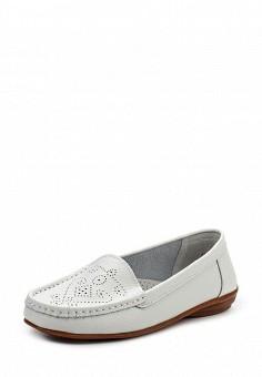 Мокасины, Zenden Comfort, цвет: белый. Артикул: ZE011AWPRE29. Женская обувь / Мокасины и топсайдеры