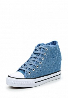 Кеды на танкетке, Zona3, цвет: синий. Артикул: ZO004AWQVC78. Женская обувь / Кроссовки и кеды / Кеды
