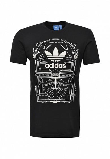 Купить Футболка adidas Originals RECTANGLE 3 черный AD093EMUNO10 Индонезия