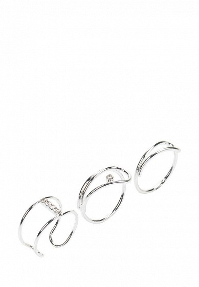 Купить Комплект колец 3 шт. diva серебряный DI006DWYXS30 Китай