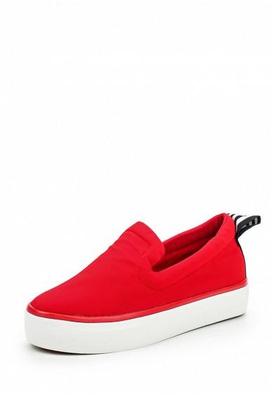 Слипоны Ideal Shoes красный ID005AWPSL69 Китай  - купить со скидкой