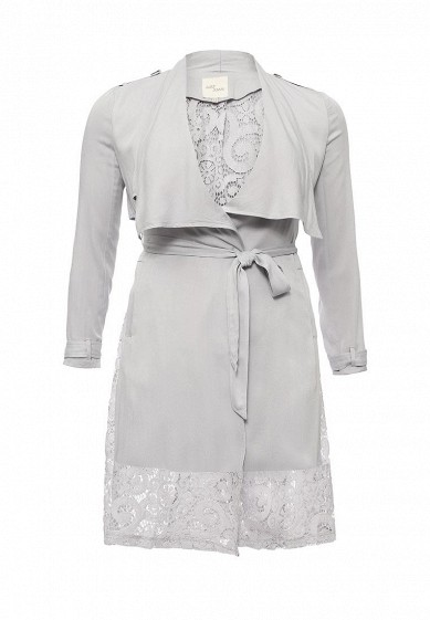 ПлащWATERFALL TRENCH COAT WITH LACE