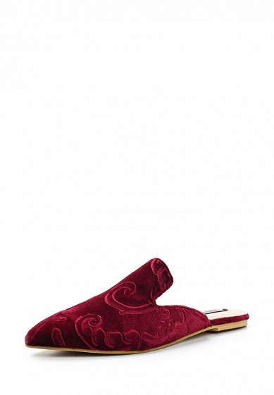 Купить Сабо LOST INK JAIME VELVET SLIP ON FLAT SHOE бордовый LO019AWWYA35 Китай