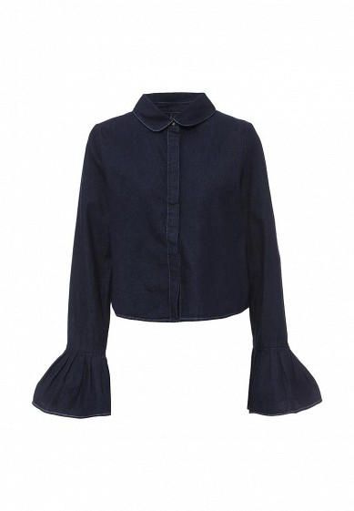 Рубашка джинсовая LOST INK PLEAT SLEEVE CROP DENIM SHIRT