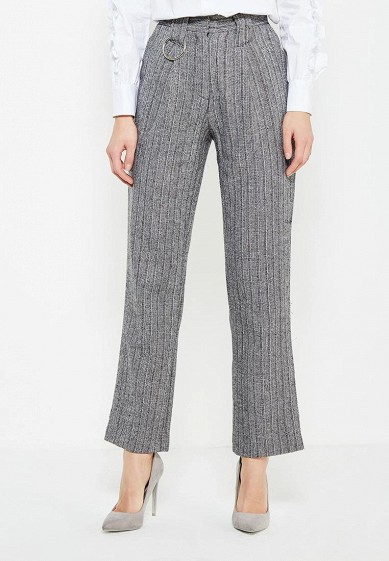 Купить Брюки LOST INK TEXTURED STRIPE STRAIGHT LEG TROUSER серый LO019EWWIM35 Китай