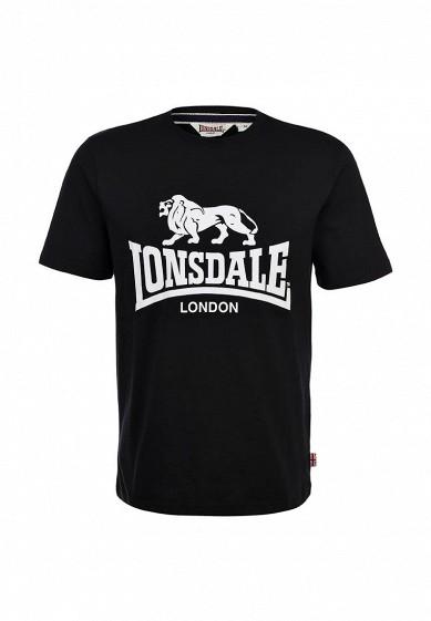 Футболка Lonsdale черный LO789EMARB43 Индонезия  - купить со скидкой