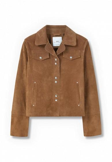 Куртка кожаная- TABACO