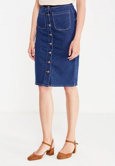 Купить Юбка джинсовая Modis синий MO044EWWIO48 Китай